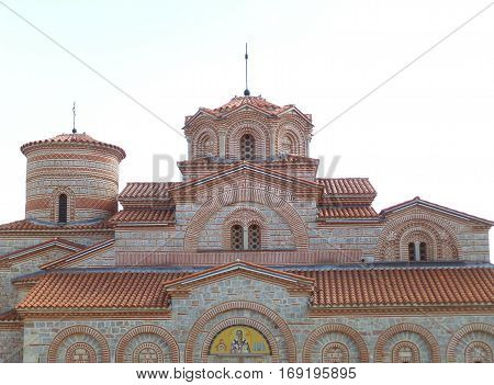 Saint Clement Church, Stunning Stone Church on the Hilltop of Ohrid Old Town, Republic of Macedonia