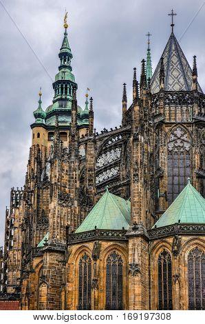 Cathedral of Saint Vite in Prague, Czech Republic
