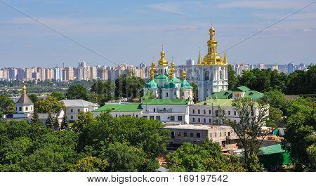 Panoramic view of Kiev Pechersk Lavra in Kiev, Ukraine