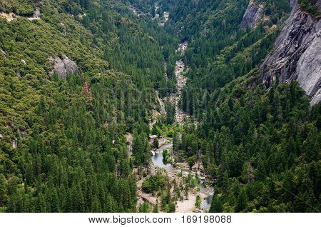 River Valley in Yosemite National Park, California USA