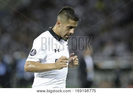 Rio Brazil - february 01 2017: Ramon Fernandez during Botafogo (BRA) vs Colo Colo (CHI) in the Copa Libertadores of America match at the Nilton Santos Stadium (Engenhao)