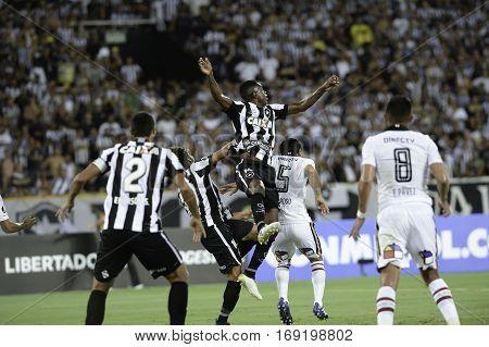 Rio Brazil - february 01 2017: Marcelo during Botafogo (BRA) vs Colo Colo (CHI) in the Copa Libertadores of America match at the Nilton Santos Stadium (Engenhao)