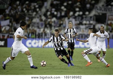 Rio Brazil - february 01 2017: Montillo during Botafogo (BRA) vs Colo Colo (CHI) in the Copa Libertadores of America match at the Nilton Santos Stadium (Engenhao)