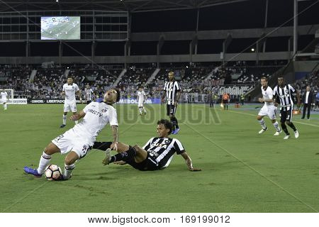 Rio Brazil - february 01 2017: Brayan Vejar during Botafogo (BRA) vs Colo Colo (CHI) in the Copa Libertadores of America match at the Nilton Santos Stadium (Engenhao)