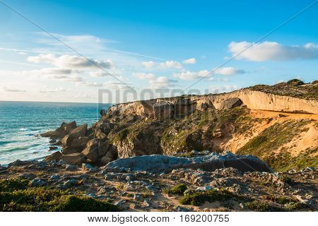 Beautiful landscapes of Fishermen's Trail, Trails Alentejo, Rota Vicentina hiking trail Portugal