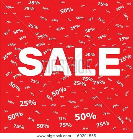 Sale Banner  Template On A Red Background