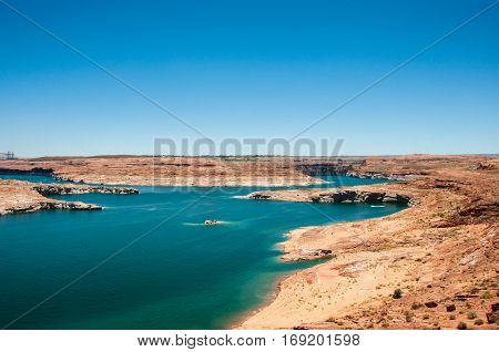 Powell Lake in Page, Arizona, United States
