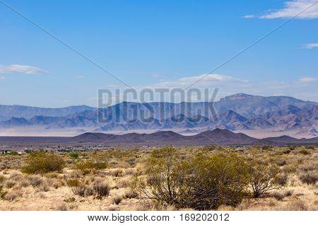 Landscape in Mojave Desert in Arizona, USA