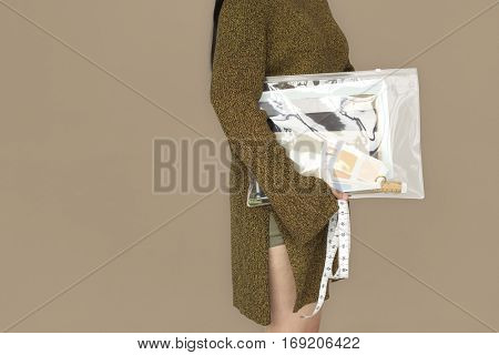 Woman Holding Work Bag Concept