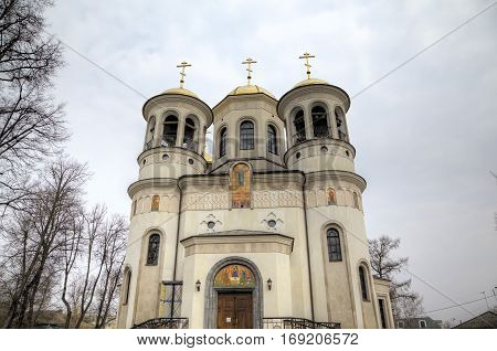 View of Church of the Ascension. Zvenigorod, Russia.