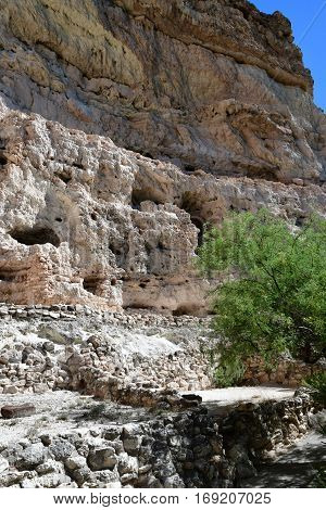 Arizona USA - july 7 2016 : the Montezuma castle between Phoenix and Flagstaff
