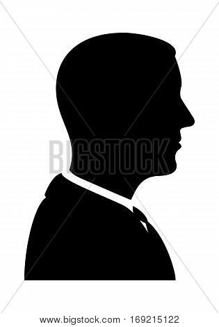 Bussinessman Silhouette. Vector Illustration Of A Profile Wiew.