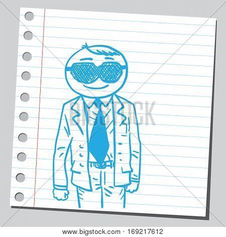 Businessman with sleep mask