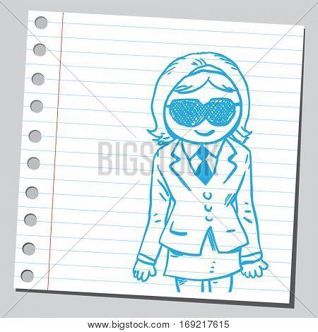 Businesswoman with sleep mask