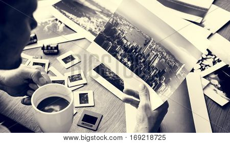 Photographer Photocamera Film Photo Workspace