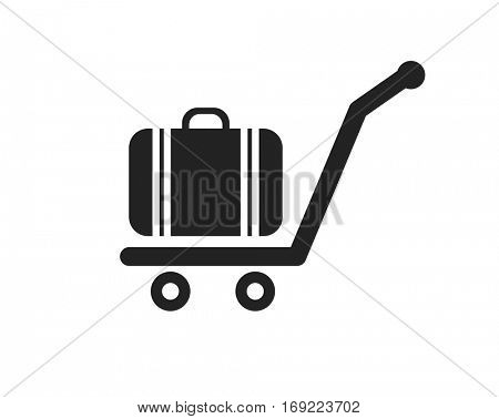 cart luggage icon sign