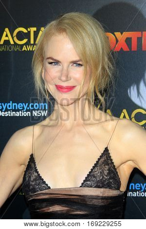 LOS ANGELES - JAN 6:  Nicole Kidman at the 6th AACTA International Awards at 229 Images on January 6, 2017 in Los Angeles, CA
