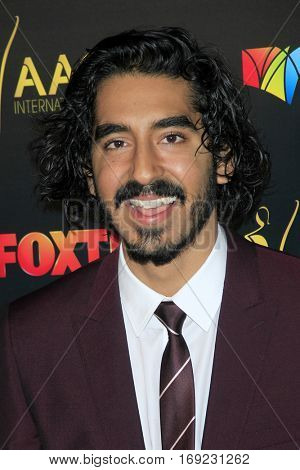LOS ANGELES - JAN 6:  Dev Patel at the 6th AACTA International Awards at 229 Images on January 6, 2017 in Los Angeles, CA