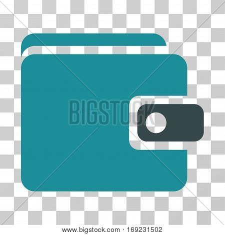 Wallet icon. Vector illustration style is flat iconic bicolor symbol soft blue colors transparent background. Designed for web and software interfaces.