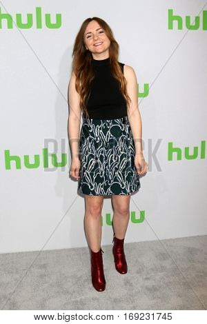 PASADENA - JAN 7:  Tara Lynne Barr at the HULU TCA Winter 2017 Photo Call at the Langham Hotel on January 7, 2015 in Pasadena, CA
