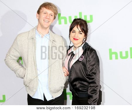 PASADENA - JAN 7:  Josh Thomas, Emily Barclay at the HULU TCA Winter 2017 Photo Call at the Langham Hotel on January 7, 2015 in Pasadena, CA