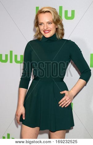 PASADENA - JAN 7:  Elisabeth Moss at the HULU TCA Winter 2017 Photo Call at the Langham Hotel on January 7, 2015 in Pasadena, CA