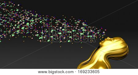 Over Prescription and Drug Abuse Popping too Much Pills 3D Illustration Render
