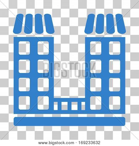 Company icon. Vector illustration style is flat iconic symbol cobalt color transparent background. Designed for web and software interfaces.