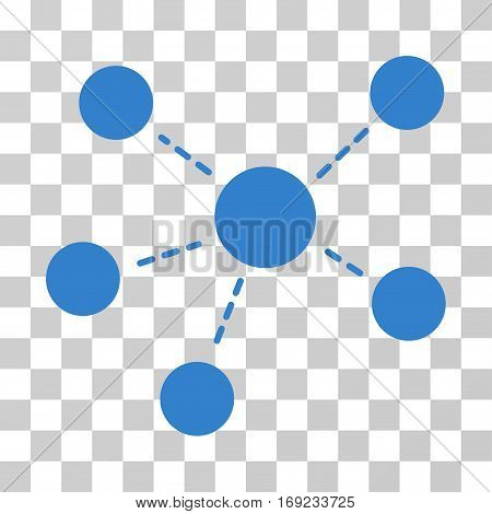 Connections icon. Vector illustration style is flat iconic symbol cobalt color transparent background. Designed for web and software interfaces.