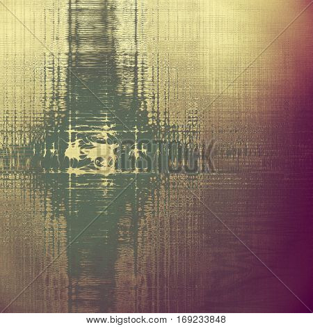 Tinted vintage texture, aged decorative grunge background with traditional antique elements and different color patterns: yellow (beige); brown; purple (violet); gray; pink
