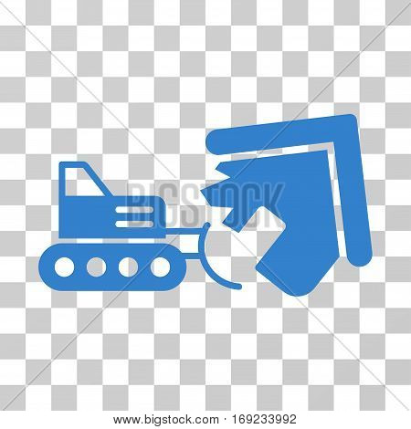 Demolition icon. Vector illustration style is flat iconic symbol cobalt color transparent background. Designed for web and software interfaces.
