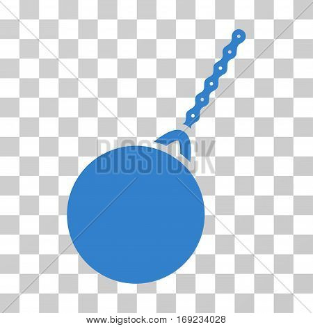 Destruction Hammer icon. Vector illustration style is flat iconic symbol cobalt color transparent background. Designed for web and software interfaces.