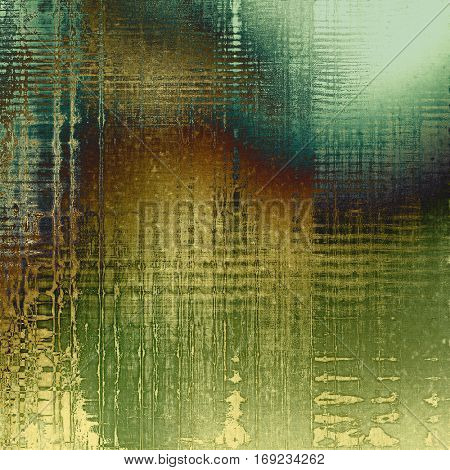 Tinted vintage texture, aged decorative grunge background with traditional antique elements and different color patterns: yellow (beige); brown; green; blue; gray; cyan