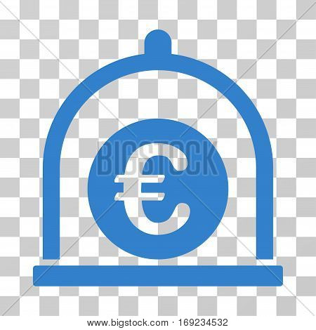 Euro Standard icon. Vector illustration style is flat iconic symbol cobalt color transparent background. Designed for web and software interfaces.