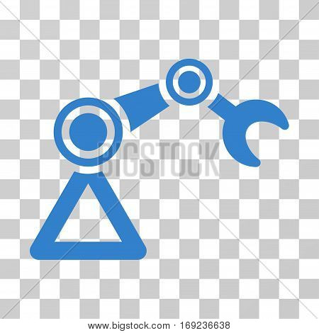 Manipulator Equipment icon. Vector illustration style is flat iconic symbol cobalt color transparent background. Designed for web and software interfaces.