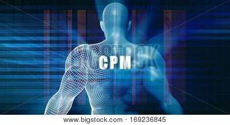 Cpm as a Futuristic Concept Abstract Background 3D Illustration Render