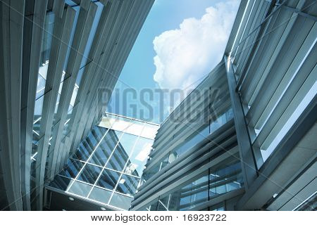 Modern blue building