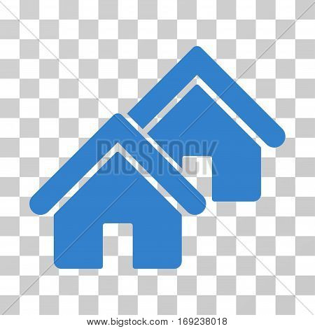 Realty icon. Vector illustration style is flat iconic symbol cobalt color transparent background. Designed for web and software interfaces.
