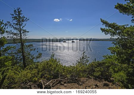 Afternoon Light on the Boundary Waters on Knife lake in Quetico Provincial Park in Ontario