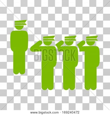 Army icon. Vector illustration style is flat iconic symbol eco green color transparent background. Designed for web and software interfaces.