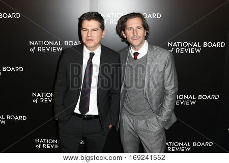 NEW YORK-JAN 4: Producers Dan Levine (L) and Aaron Ryder attend the National Board of Review Gala at Cipriani Wall Street in New York on January 4, 2017.