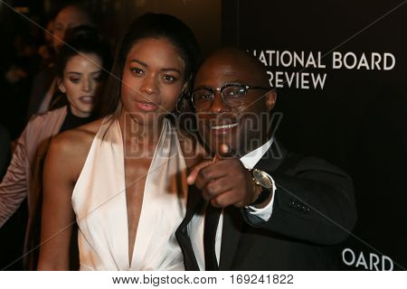 NEW YORK-JAN 4: Actress Naomie Harris (L) and director Barry Jenkins attend the National Board of Review Gala at Cipriani Wall Street in New York on January 4, 2017.