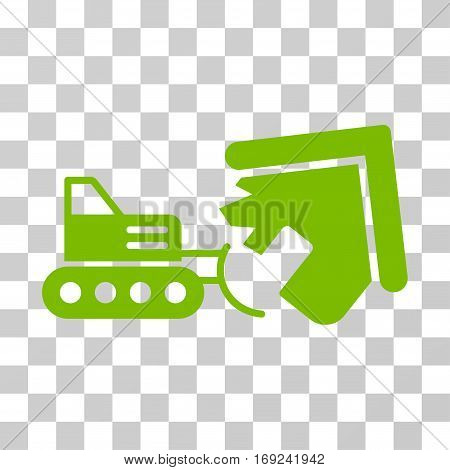 Demolition icon. Vector illustration style is flat iconic symbol eco green color transparent background. Designed for web and software interfaces.