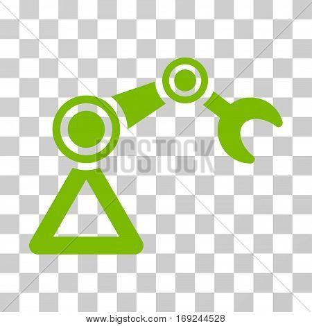 Manipulator Equipment icon. Vector illustration style is flat iconic symbol eco green color transparent background. Designed for web and software interfaces.
