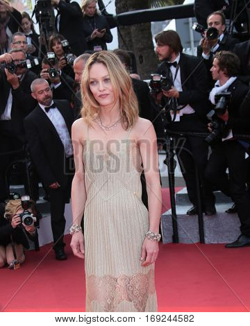 Vanessa Paradis attends 'The Unknown Girl (La Fille Inconnue)' Premiere duirng the annual 69th Cannes Film Festival at Palais des Festivals on May 18, 2016 in Cannes, France.