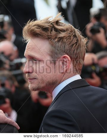 Jeremie Renier attends 'The Unknown Girl (La Fille Inconnue)' Premiere duirng the annual 69th Cannes Film Festival at Palais des Festivals on May 18, 2016 in Cannes, France.