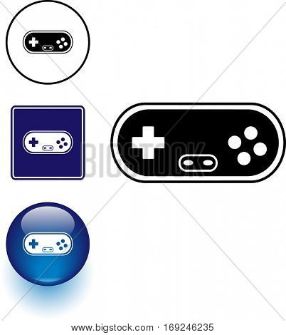 gamepad controller symbol sign and button
