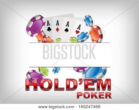 Texas Hold em poker logo for Casino