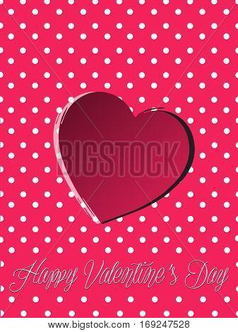 Valentine day red heart background