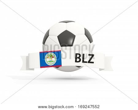 Flag Of Belize, Football With Banner And Country Code
